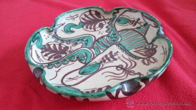 ANTIGUA BANDEJA CERAMICA PUNTER (Antigüedades - Porcelanas y Cerámicas - Teruel)