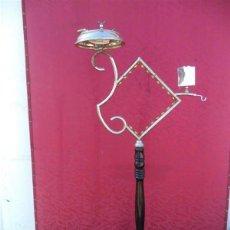 Antiquitäten - cenicero de pie cromado con cerrillero - 44985424