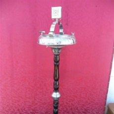 Antiquitäten - cenicero de pie cromado con cerrillero - 44985442