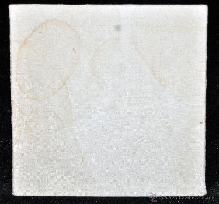 Antigüedades: ANTIGUA PALIA O CUBRE CÁLIZ EN ROPA DE LINO CON DECORACIONES BORDADAS A MANO. CIRCA 1900 - Foto 2 - 44985732