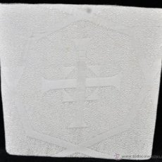 Antigüedades: ANTIGUA PALIA O CUBRE CÁLIZ EN ROPA DIRÍA QUE EN SEDA. CIRCA 1900.. Lote 44987682