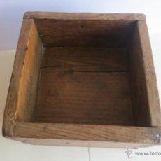 Antigüedades: MEDIDA DE GRANO CASTELLANA DE MEDIO CELEMIN Y UN CUARTILLO. Lote 45001412