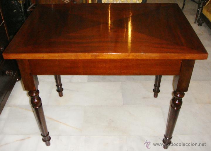 Antigua mesa de escritorio mediana caoba reci comprar - Mesas de escritorio antiguas ...