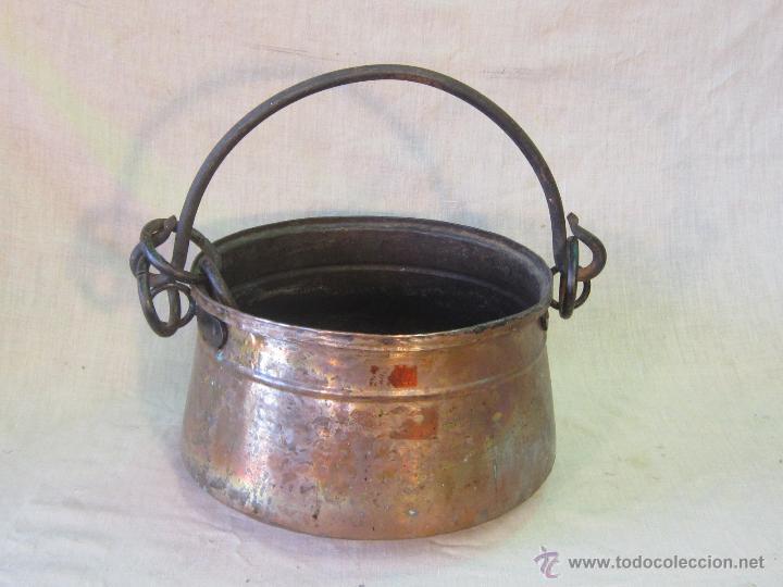utensilio de cocina en cobre con asa de hierro - Comprar Utensilios ...