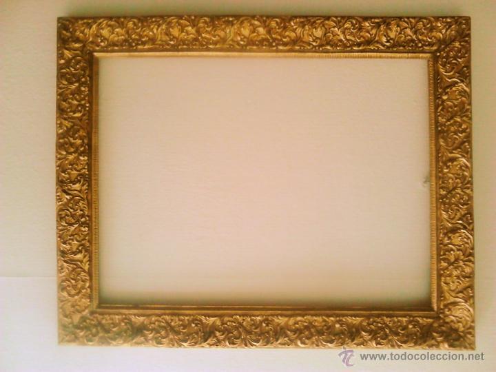 antigedades marco dorado c pan de oro foto
