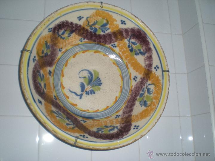 MARAVILLOSO LEBRILLO DE CERÁMICA DE TRIANA S-XIX (Antigüedades - Porcelanas y Cerámicas - Triana)