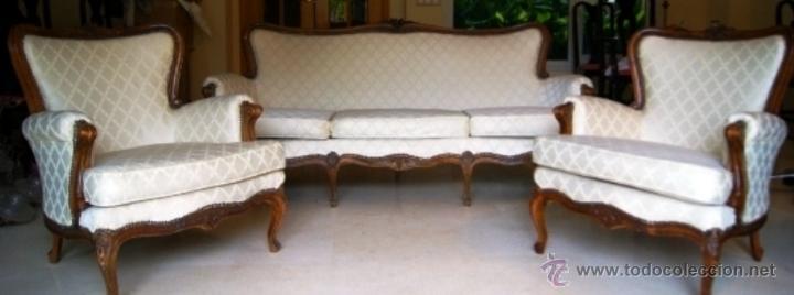 Tresillo franc s sof y 2 sillones tapicer a comprar for Muebles el tresillo