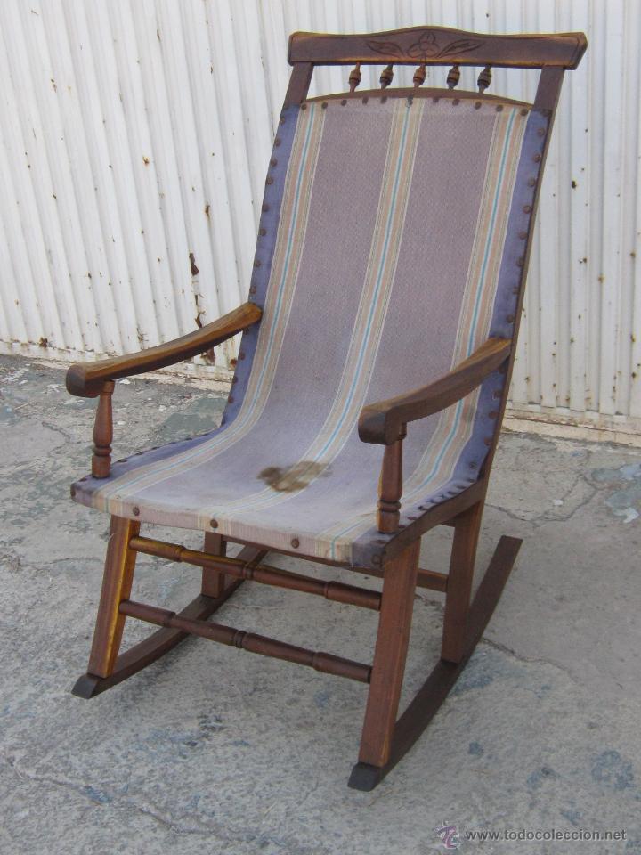 Mecedora antigua en madera de morera comprar sillones antiguos en todocoleccion 45071320 - Sillones mecedoras ...