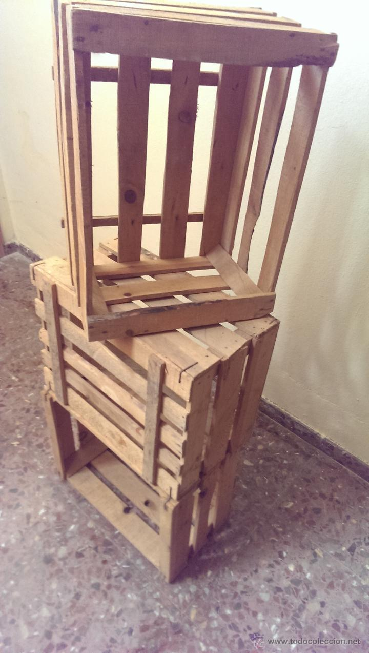 Cajas De Fruta Antiguas En Madera Decoraci N Comprar  # Muebles De Jabas De Madera