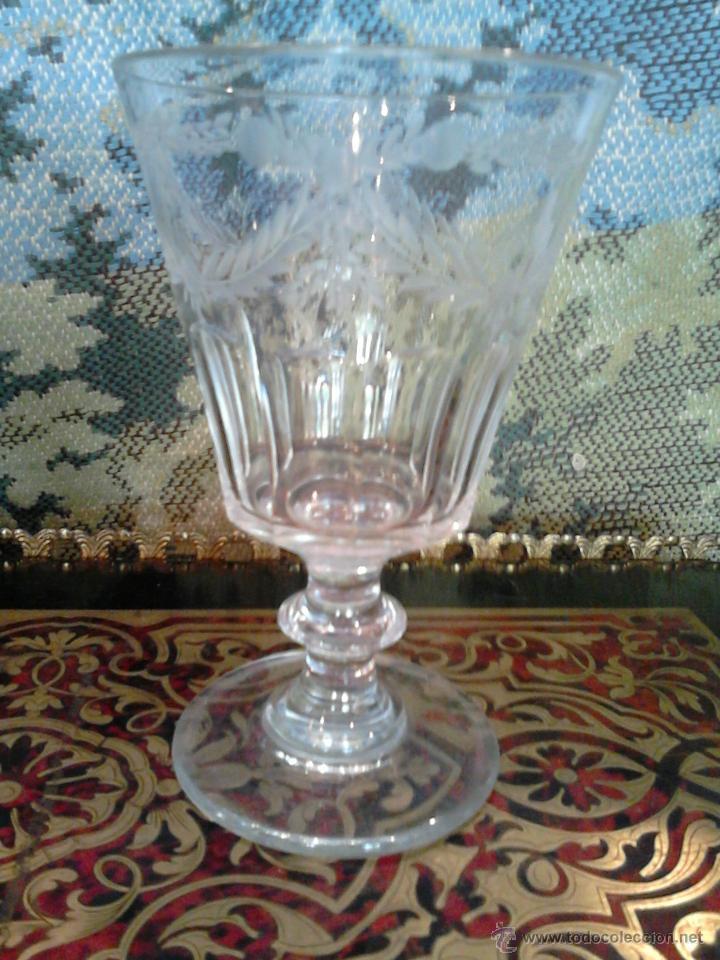 Antigüedades: Pareja de copas en cristal español.Segovia siglo XIX La Granja - Foto 3 - 93112287