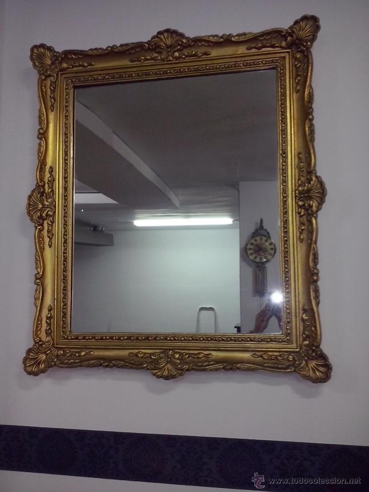 Luis xv espejo marco madera antiguo 93 x 80 comprar espejos antiguos en todocoleccion 45089388 - Marcos espejos antiguos ...