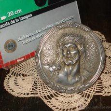 Antigüedades: MUY ANTIGUO CRISTO JESÚS PELTRE 11CM - MUY DELICADOS DETALLES DE COPIA. MUY PEQUEÑO DETALLE. 1940. Lote 45090890