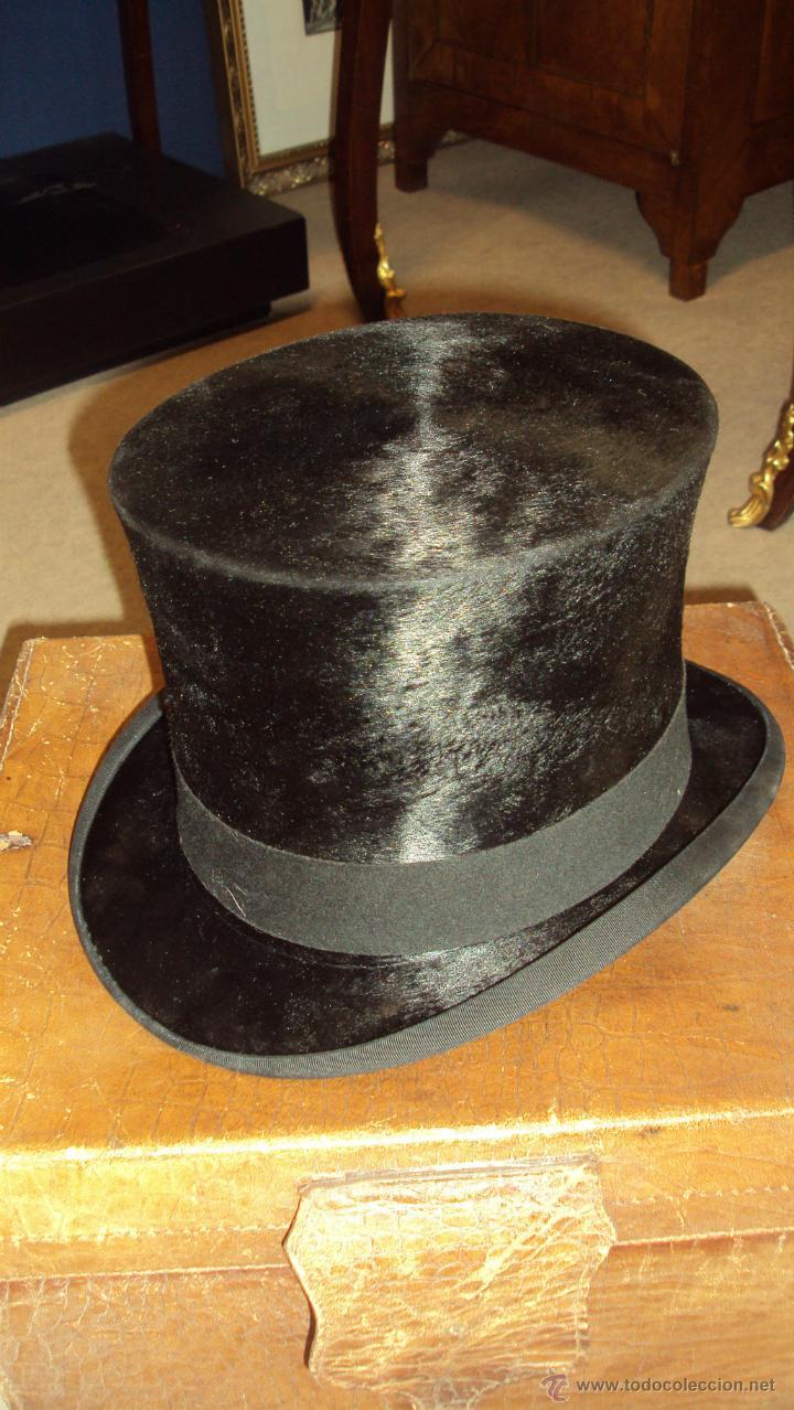 Antigüedades: Precioso Sombrero de Copa con Maleta de Piel - Hotel Inglés Valencia - - Foto 2 - 45095009