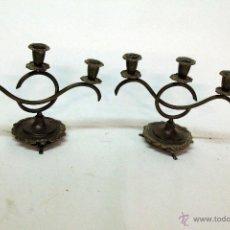 Antigüedades: PAREJA DE CANDELABROS. Lote 45097112