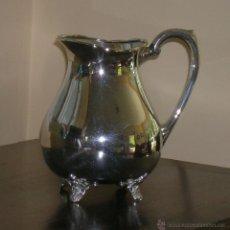 Antigüedades: JARRA DE PLATA DE LEY PUNZONADA CON PATAS. Lote 45107443