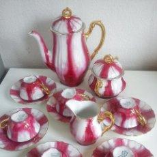 Antigüedades: PRECIOSO JUEGO DE CAFE HECHO DE PORCELANA SIGLO XX SELADO LCHALLER BAVARIA . Lote 45108389