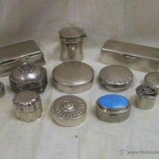 Antigüedades: LOTE DE 12 CAJITAS PASTILLEROS DE PLATA.. Lote 45108799