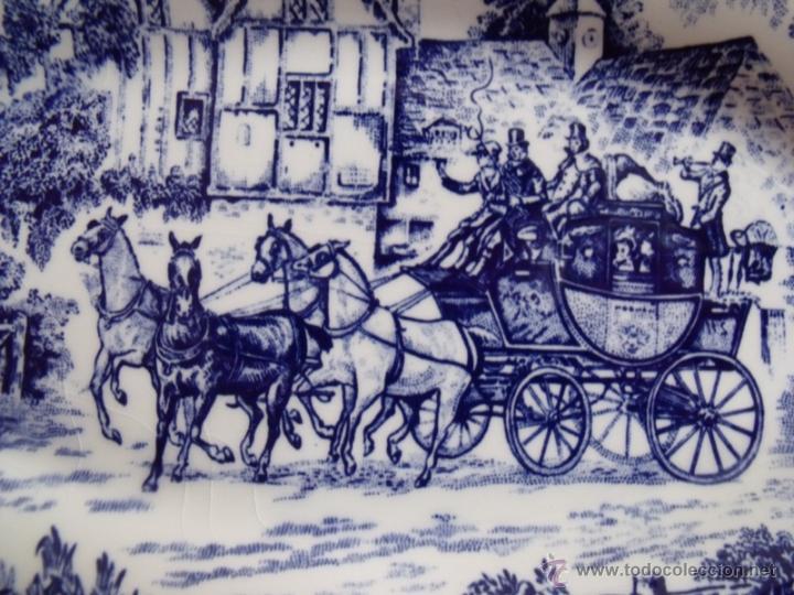 Antigüedades: Antigua Fuente Bandeja Porcelana San Claudio - Serie Posta - Foto 2 - 45109143