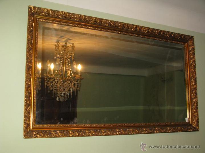 espectacular espejo dorado s. xix. marco madera - Comprar Espejos ...