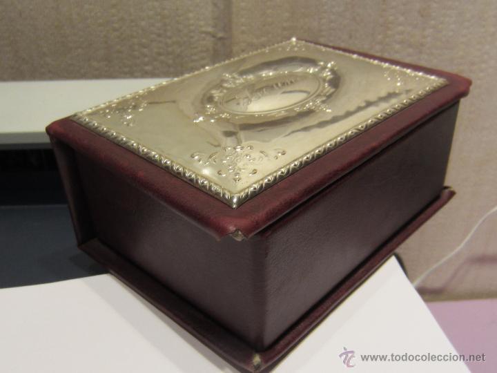 Antigüedades: caja madera y plata de ley - Foto 2 - 45122082