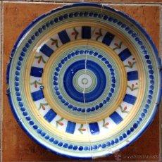 Antigüedades: PLATO CERÁMICO ALCORA SIGLO XIX. Lote 45122546