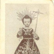 Antigüedades: ANTIGUA ESTAMPA DEL NIÑO JESÚS MILAGROSO - MONASTERIO DEL ESPÍRITU SANTO. SEVILLA. Lote 45126567