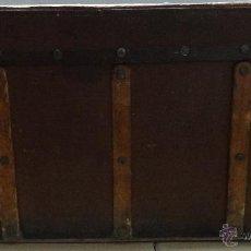 Antigüedades: BAÚL EN MADERA SIGLO XIX-XX- 347. Lote 43780181