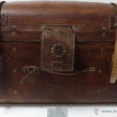 Antigüedades: BAÚL EN CUERO REPUJADO SIGLO XX- 338. Lote 43780444
