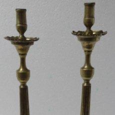 Antigüedades: CANDELABROS PAREJA BRONCE SIGLO XX - 958. Lote 43843879