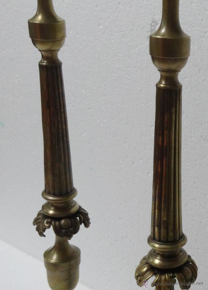 Antigüedades: CANDELABROS PAREJA BRONCE SIGLO XX - 958 - Foto 3 - 43843879
