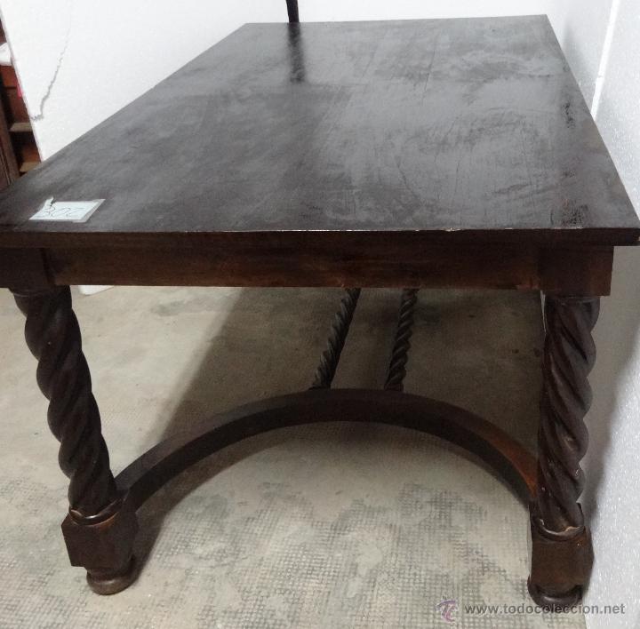 Antigüedades: MESA MADERA ROBLE- 302 - Foto 2 - 43842373