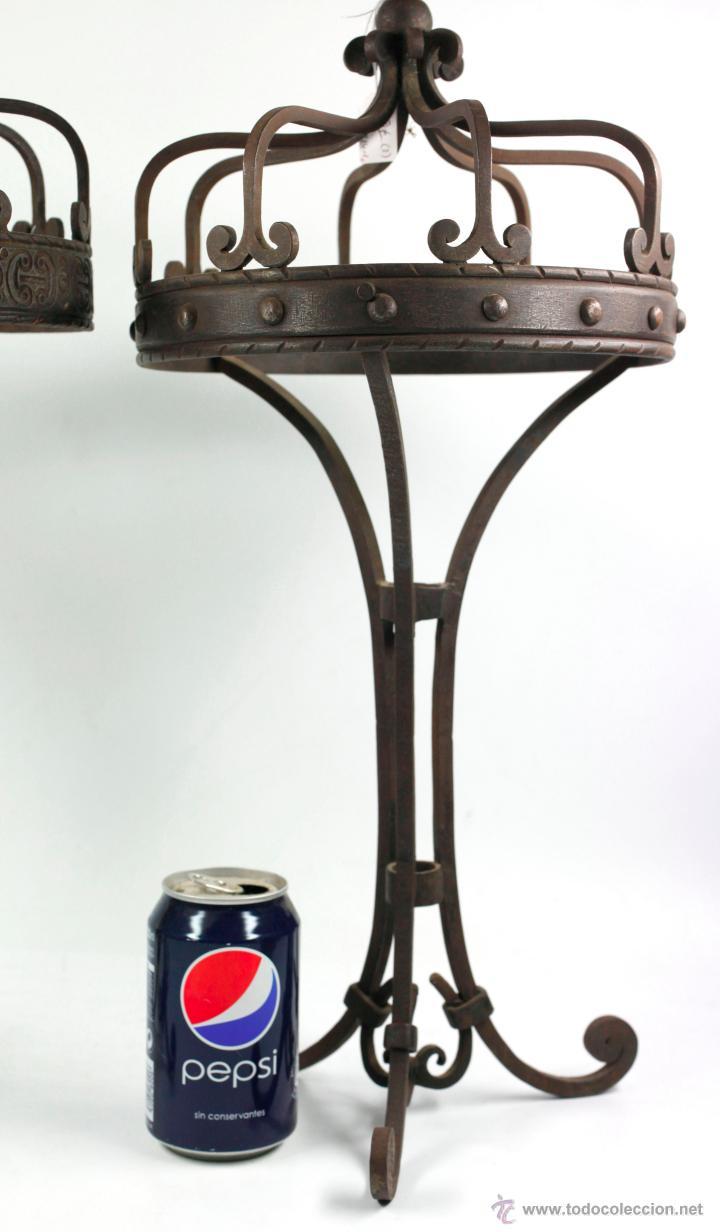 Antigüedades: 2 lámparas de sobremaesa de hierro , 1915s. altura: 57 cm. Ver fotos anexas - Foto 3 - 45136243