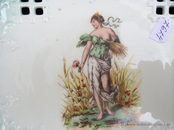 Antigüedades: PLATO ANTIGUO EN PORCELANA SIGLO XIX - Foto 3 - 45140300