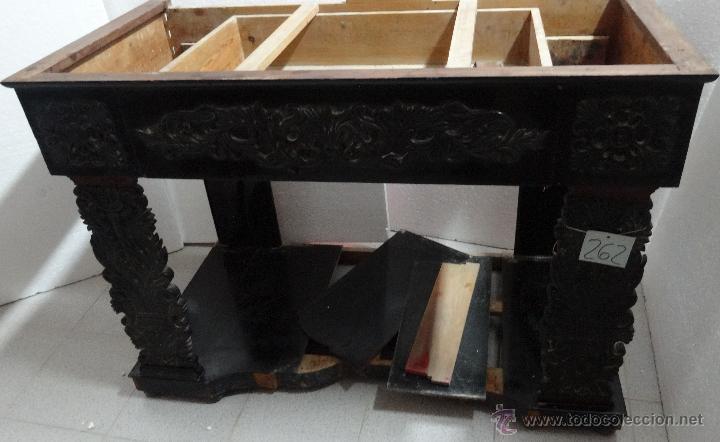 CONSOLA EN MADERA DE CAOBA DE PRINCIPIOS DEL SIGLO XIX (Antigüedades - Muebles Antiguos - Escritorios Antiguos)