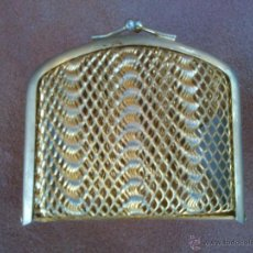 Antigüedades: MONEDERO EN METAL DORADO ENREJADO. Lote 45142936