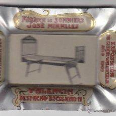Antigüedades: CENICERO MODERNISTA FABRICA DE SOMMIERS JOSE MIRALLERS - 1909. Lote 45146522