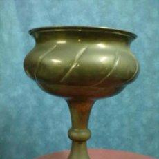 Antigüedades: COPA METAL GALLONADA MACETERO ALTO.. Lote 45148624