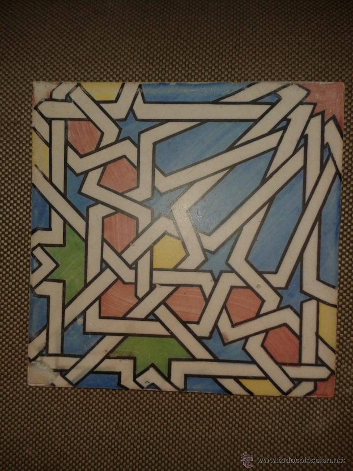 AZULEJO VALENCIANO 20X20 (Antigüedades - Porcelanas y Cerámicas - Alcora)