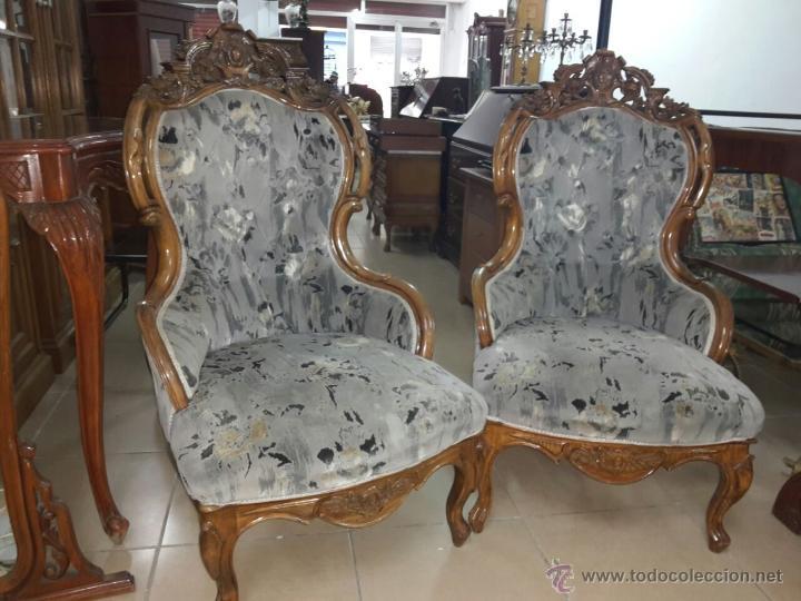 Pareja de sillones ingleses estilo reina ana comprar for Sillones clasicos ingleses