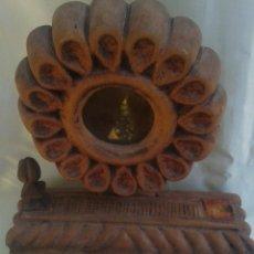 Antigüedades: ARTE PASTORAL PASTORIL ANTIGUA URNA PARA GUARDAR RELIQUIA RELICARIO. Lote 45154895