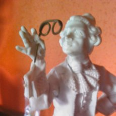 Antigüedades: EXTRAORDINARIA FIGURA DE PLÁSTICO DURO ( BAQUELITA) IMAGEN DE CABALLERO DE ÉPOCA CON GAFAS DE OPERA.. Lote 45158703