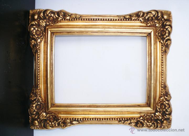 Marco espejo o fotos dorado vintage j j rued comprar for Espejos grandes con marco