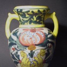 Antigüedades: IMPRESIONANTE JARRON DE CERAMICA DE MANISES ( VALLDECABRES ). Lote 45180684