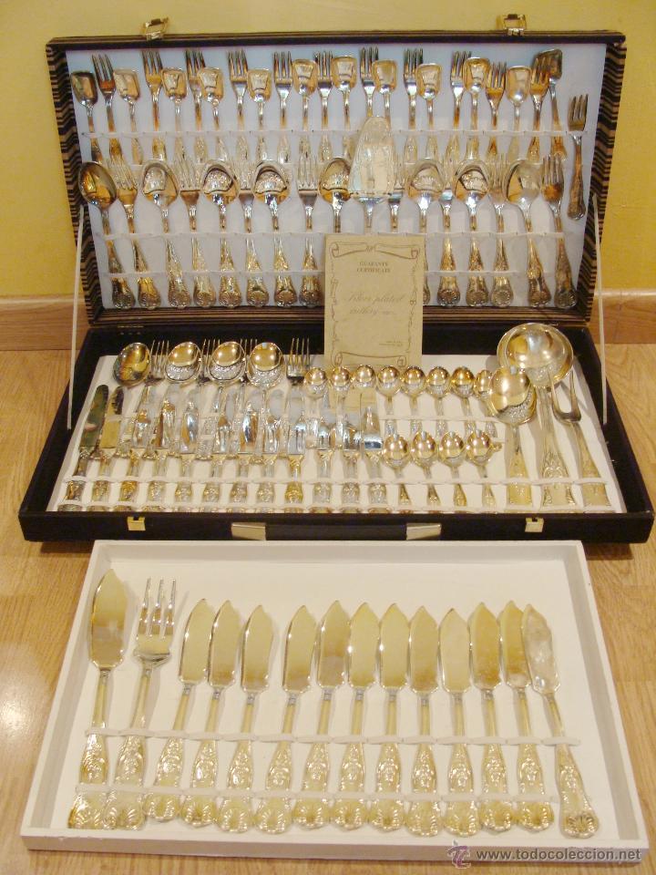 Antigua cuberter a de plata italy arg 800 compl comprar ba ado en plata antigua en - Precio cuberteria plata ...