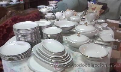 Espectacular vajilla de 125 piezas de porcelana comprar for Marcas de vajillas