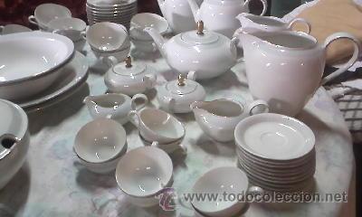 Antigüedades: Espectacular vajilla de 125 piezas de porcelana marca eschenbach bavaria-germany 1920 . - Foto 2 - 45203644