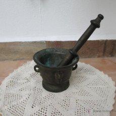 Antigüedades: MORTERO ANTIGUO ESPAÑOL- GOTICO SIGLO XVII ORIGINAL. Lote 45220167