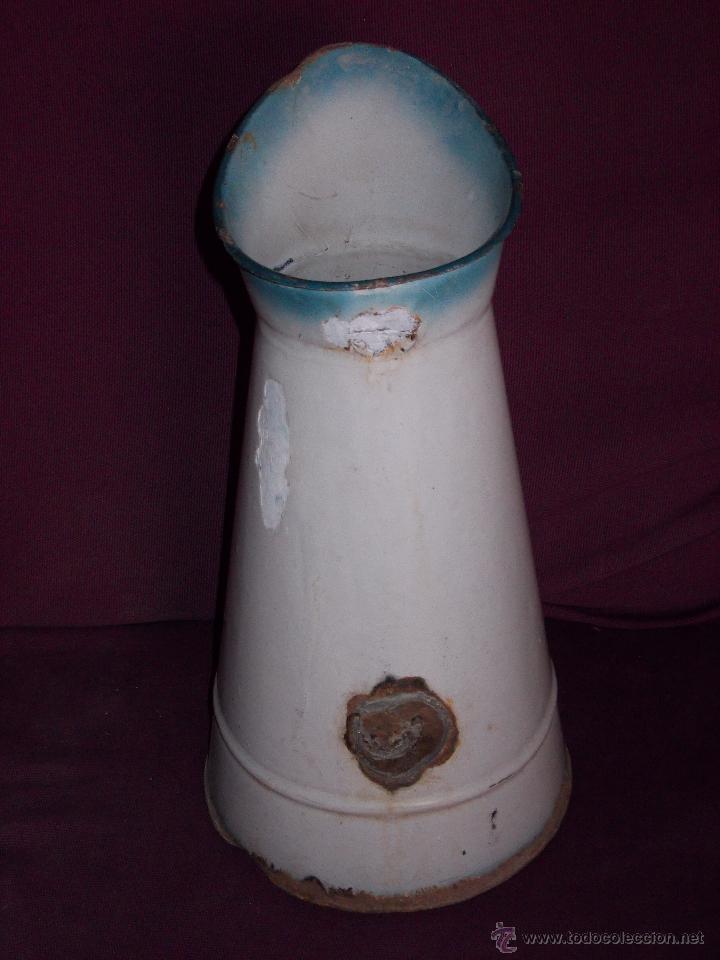 Antigüedades: jarra esmaltada con flores - Foto 4 - 45230982