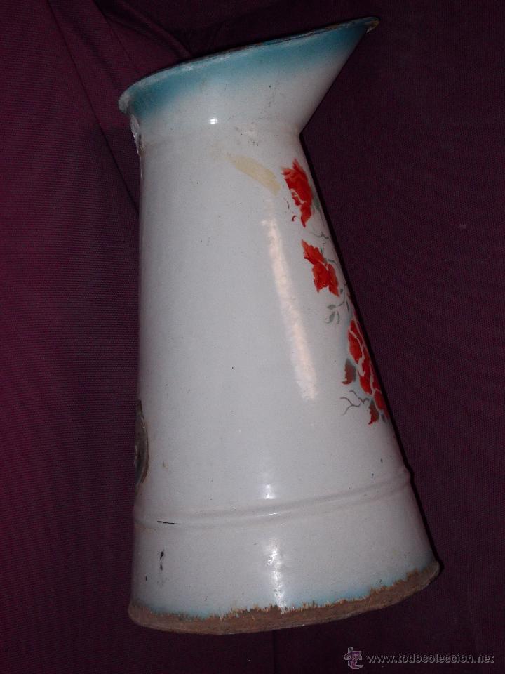 Antigüedades: jarra esmaltada con flores - Foto 5 - 45230982