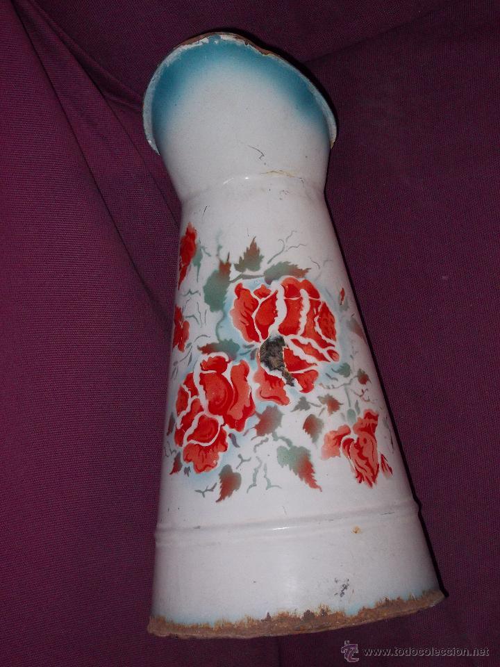 Antigüedades: jarra esmaltada con flores - Foto 6 - 45230982